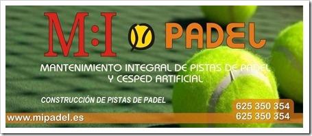CAMPAÑA MIPADEL MANTENIMIENTO PISTAS DE PADEL 2011