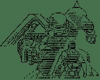 ザクと対峙する兵士(ガンダム)