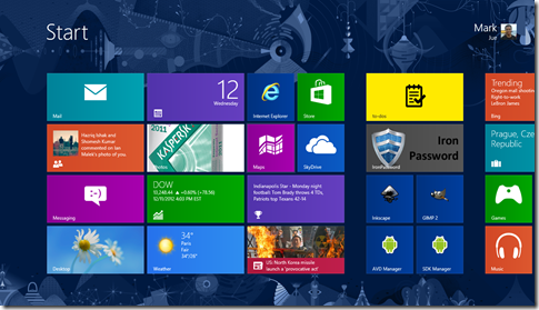 Windows 8's Home