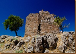 pergamon, ruin and tree