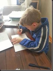 caleb writing