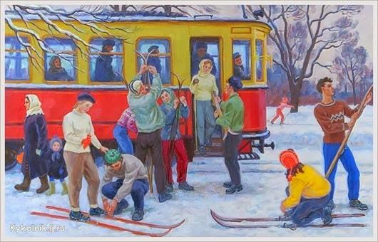 Хохловкина Эльза Давидовна (Россия, 1934) «В сокольниках» 1958