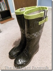 duct tape boots - The Backyard Farmwife