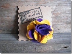 LSU flower pin