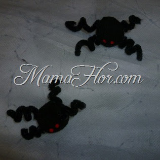 Como hacer arañas con Limpia pipas