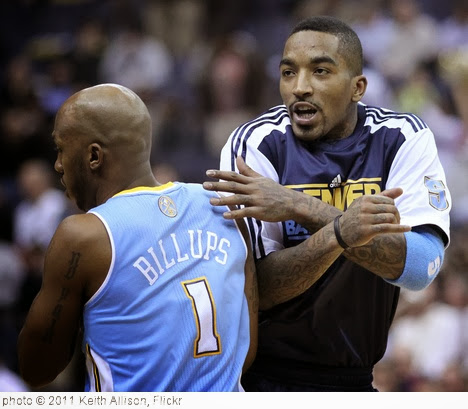 'Chauncey Billups and J.R. Smith' photo (c) 2011, Keith Allison - license: http://creativecommons.org/licenses/by-sa/2.0/