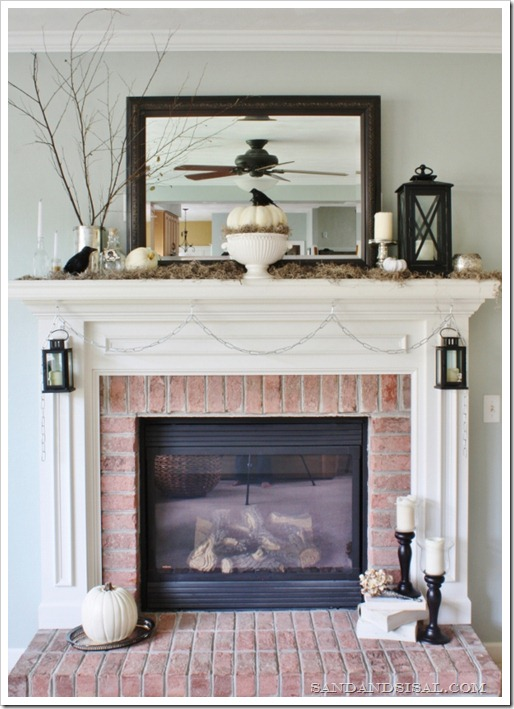 """Haunted Beauty"" Halloween Mantel by Sand &#038; Sisal"