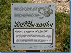 1652 Alberta Lethbridge - Indian Battle Park - rattlesnake sculpture sign