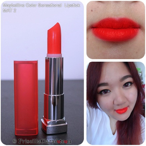 Priscilla review Maybelline Color Sensational  Lipstick MAT 2