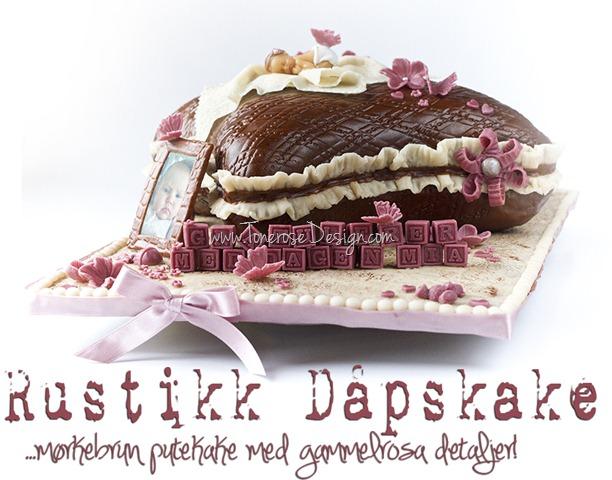 rustikk dåpskake gammelrosa jente dåp IMG_6398