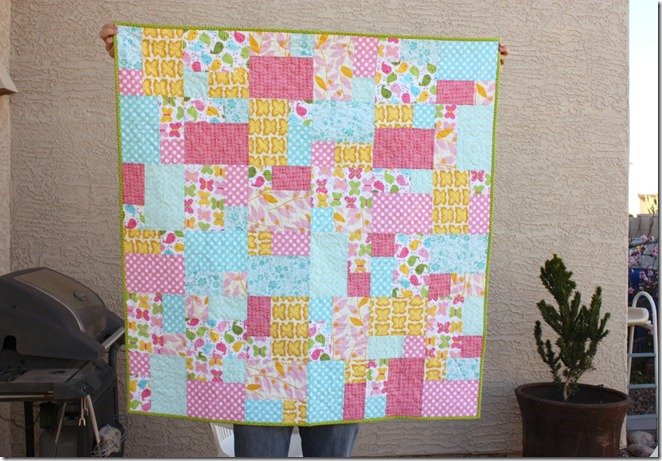Baby Quilt Pink and Blue
