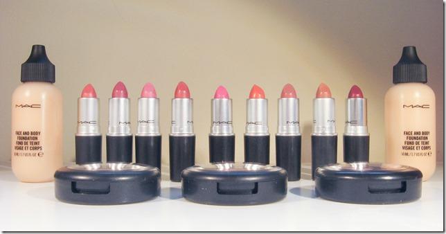 Mac Lipstick, Blush F & B