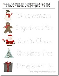 FREE Christmas Preschool Printable - Writting Skills
