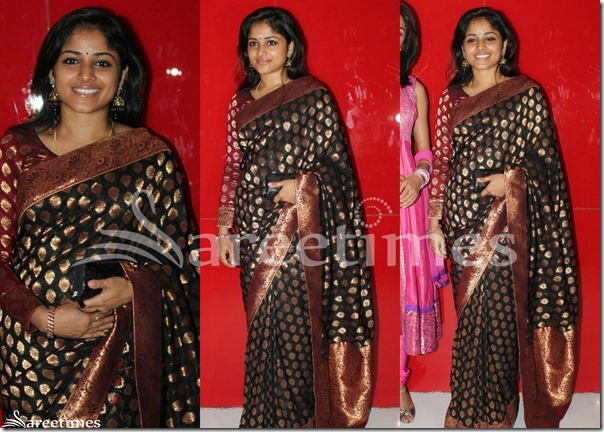 Santhini_Black_Saree