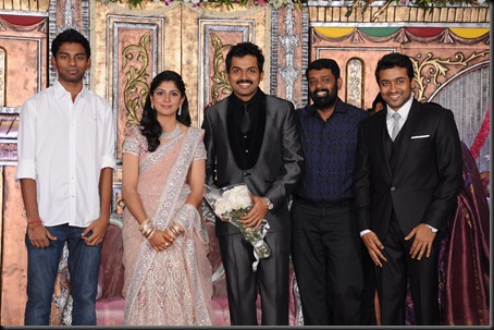 karthi ranjini wedding reception stills0-21