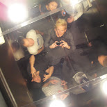 the famous elevator photo in Toronto, Ontario, Canada