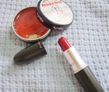 rosebud salve, mac russian red, bitsandtreats
