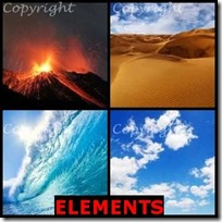ELEMENTS- 4 Pics 1 Word Answers 3 Letters