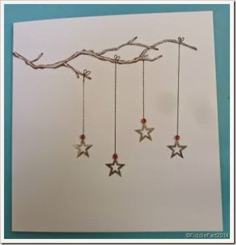 Stars on a branch card