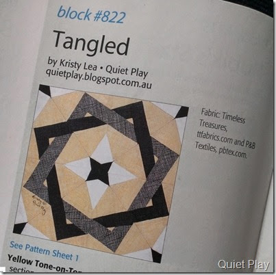 Tangled block in Quiltmaker vol 9