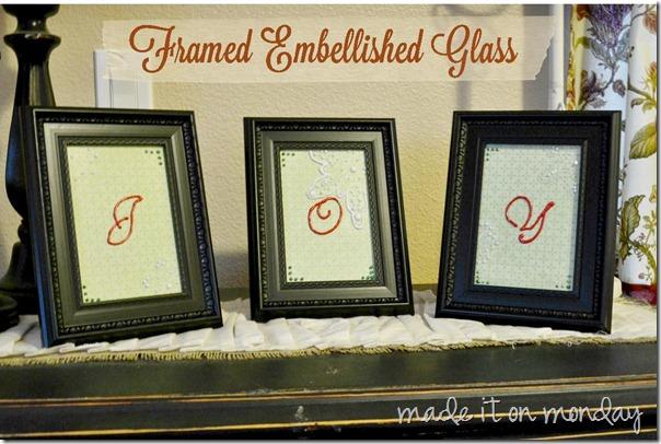 framed embellished glass