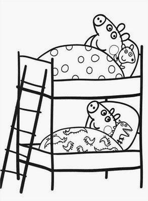 peppa na cama