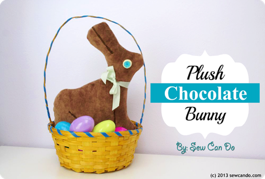 Plush Chocolate Bunny SCD