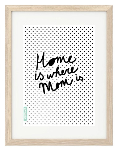 Home is Where Mom Free Printable is by Mood Kids
