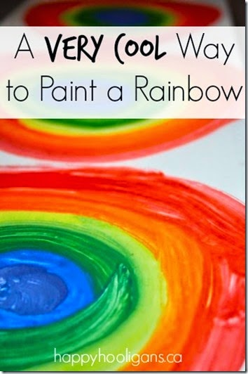 Rainbow craft for kids - This is such a fun craft for kids of all ages. Perfect for spring or summer as a kids activities.