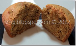 Eggless Banana Muffin