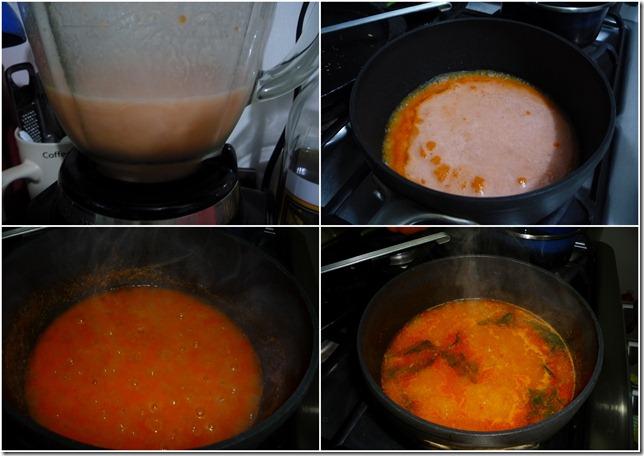 4.- Preparación de la sopa