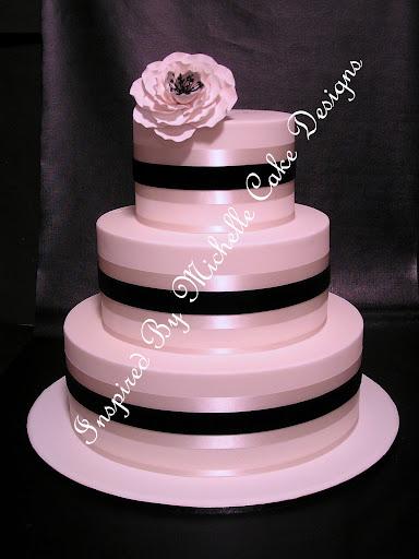 Inspired By Michelle Cake Designsjpg white and black velvet three wedding