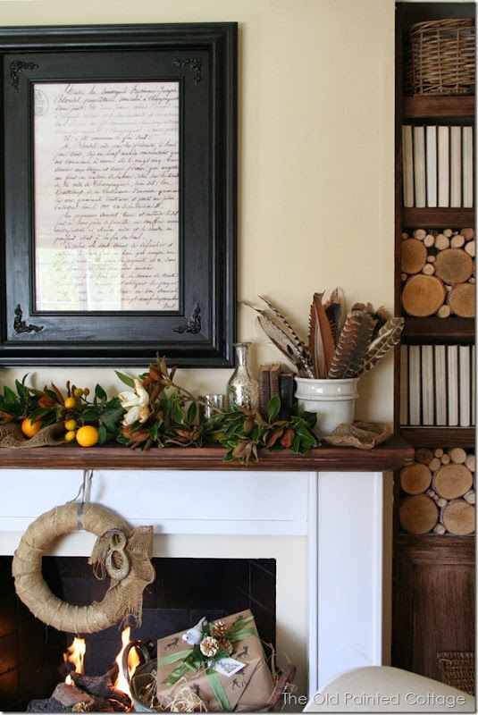 The Old Painted Cottage - Winter Mantel