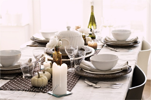 Fall Polkadot Table Setting 7