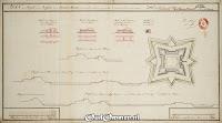 17 September 1740 PLAN en project met de profylen van de Ommer Schans, soo als dezelve weederom opgemaakt en versterkt zoude moeten worden ### Bron: OudOmmen - ontvangen van Streekmuseum Ommen