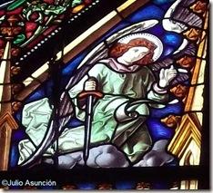Ángel con espada - Vidriera de Las Navas de Tolosa - Roncesvalles