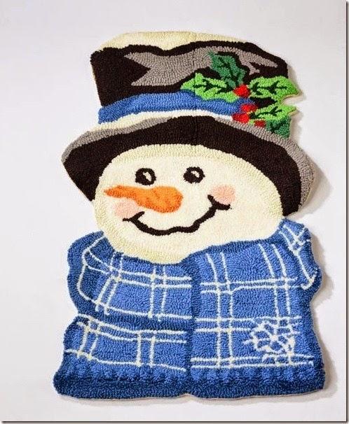 手工編織雪人地毯_2