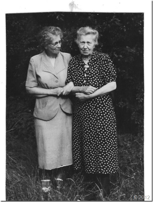 Anna Bartels and mutti Maria Korbach Bartels