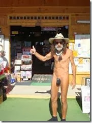 Paul Winer Naked Bookstore Owner