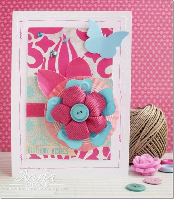 card fiore stoffa