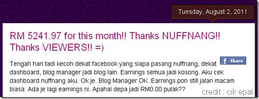 Blogger income 5k