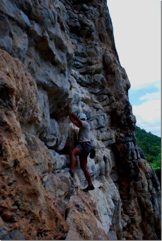 Rock Climbing at Tonsai tower, Ko Phi Phi