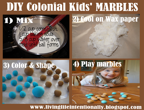 How to Make Marbles for Kids - Hands on Colonial America History Project