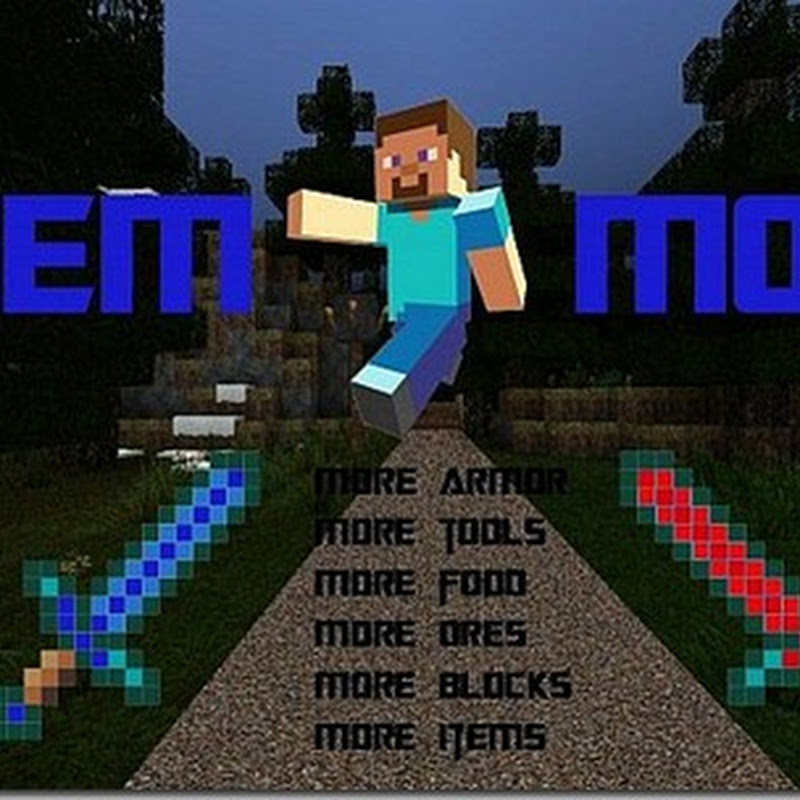 Minecraft 1.4.7 – GemMod (Armi, Biomi, Utensili, Mob e GUI)