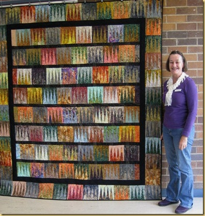Finished quilt with Lyn Crump