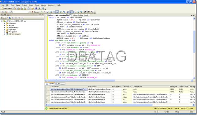 SQL Script for Service Broker to get Service Queue Details SQL Script for Service Broker