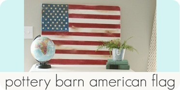 pottery barn american flag
