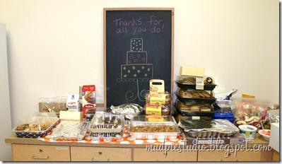 Teacher Appreciation Week - Dessert Day - mudpiestudio@blogspot.com