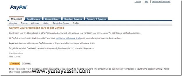 Cara daftar Paypal  107