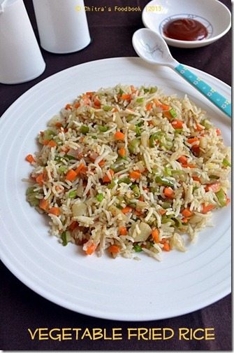 Veg fried rice plate